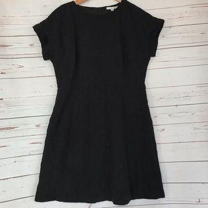 Boden polka dot black dress